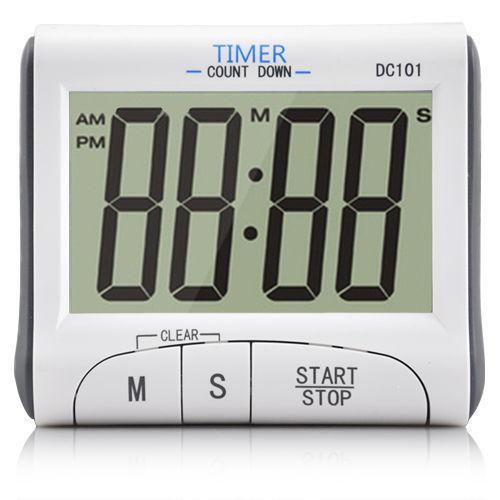 lcd digital kitchen timer ebay. Black Bedroom Furniture Sets. Home Design Ideas