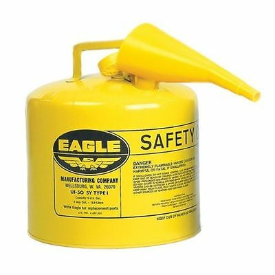 Eagle Mfg. Ui-50-fsy Yellow Type 1 Safety Diesel Fuel Can 5 Gallon Wf-15 Funnel