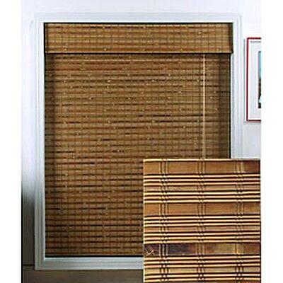Arlo blinds dali native bamboo 54 inch long roman shade for Blinds for long windows