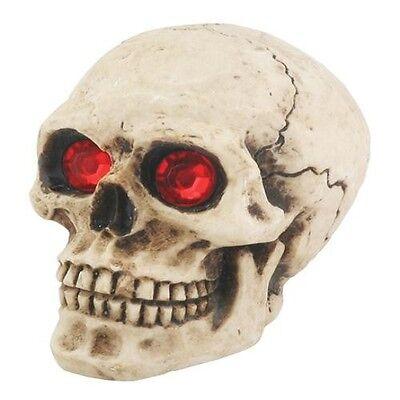 Red Eyes Skull.Universal Car Shift Knob for Stick Manual Shifter.Hot Rod Custom Custom Shifter Knobs