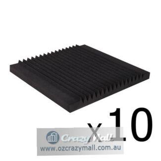 10x Studio Acoustic Foam Tile 16 Teeth Wedge 50x50x5cm