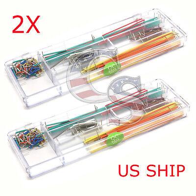 2x 140pcs Solderless Breadboard Jumper Cable Wire Kit U Shape For Arduino Shield