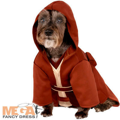 Dog Jedi Costume (The Last Jedi Dog Fancy Dress Star Wars The Force Awakens Puppy Pet Costume)