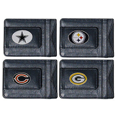 NFL Football Leather Money Clip Wallet  * Pick Your Team *