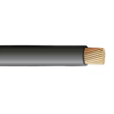 250 6 Awg Stranded Copper Xlp Use-2 Wire Direct Burial Cable Black 600v