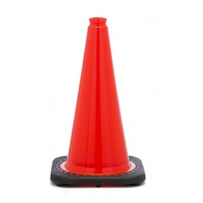 1850 - 18 Orange Safety Traffic Cones 10 Cones Per Pkg Wide Body Free Us Ship