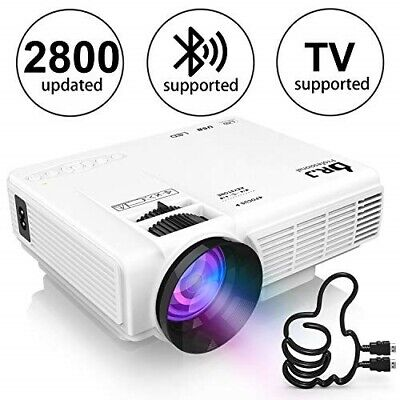 "DR. J Professional Full HD 1080P [Bluetooth] Supported Mini Projector 170"" Displ"