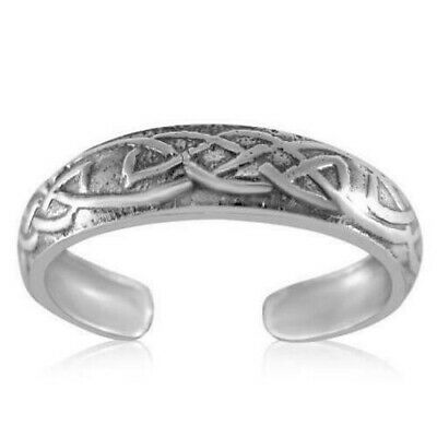Celtic Pattern Sterling Silver Ring (Celtic Pattern Toe Ring Genuine Sterling Silver 925 Adjustable Jewelry 1.3 grams )