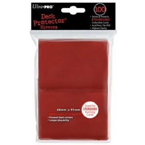 100-NEW-ULTRA-PRO-CARD-SLEEVES-Red-Deck-Protectors-MTG-Magic-Pokemon