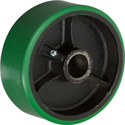 8 X 2 Polyurethane On Cast Iron Wheel With Bearing - 1 Ea