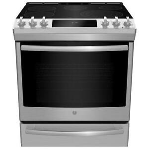30-inch GE Electric Range, Slide-In, Stainless
