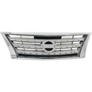 Grille Chrome/Silver Nissan SENTRA 2013-2015