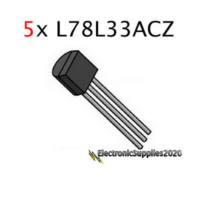 5pcs L78l33acz 3.3v Voltage Regulator Ic To-92 Usa Seller