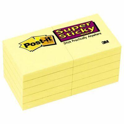 Post-it Super Sticky Notes 2 X 2 Yellow 10 - 90 Sheet Pads Mmm62210sscy