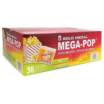 6oz Popcorn Kit - Case Of 36 Individual 6 Ounce Popcorn Kits Portion Packs
