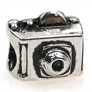 Lot-5pcs-Digital-Camera-Silver-European-Spacers-Charms-Beads-For-Bracelet-LEB349