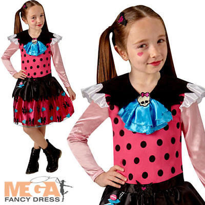 Classic Draculaura Girls Fancy Dress Monster High Vampire Kids Halloween Costume