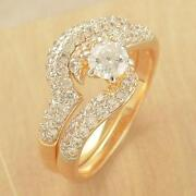 Gold CZ Wedding Rings