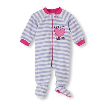 Toddler Blanket Sleeper MOMMY LOVES ME Heart Purple Stripes - Girls Size 2T NWT Heart Blanket Sleeper