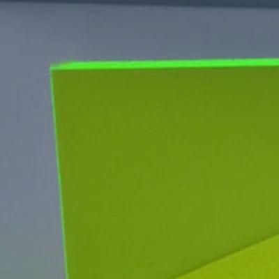 18 3mm Green Fluorescent Acrylic 12 X 12 Plexiglass Sheet Neon Color Azm