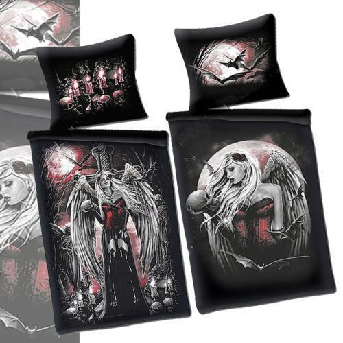 Black Skull Bed Set