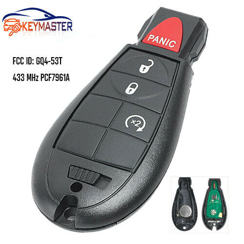 Remote Car Key Fob 4Btn for Dodge RAM 1500 2500 3500 With Remote Start GQ4-53T