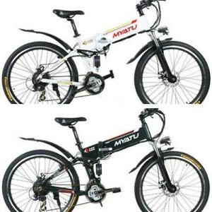 "Spring Promotion!  High Quality 26"" ALUMINUM ALLOY FOLDING MOUNTAIN EBIKE, X5-26, 500W,  White/Black $1599(was $2099) (s"