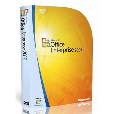 Microsoft Office 2007 Enterprise  Word  Excel  Outlook  Publisher    5 Pc S
