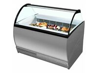 Gelato Ice Cream Display - 10 Pans
