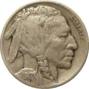 1917 D Buffalo Nickel