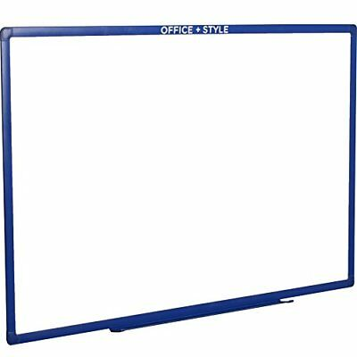 Large Magnetic Dry Erase Board Wall Mounted Blue. By Office Style.