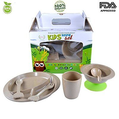 Toddler Kid Dinnerware Baby Feeding Gift Set Bowl Plate Suction Cup spoon fork