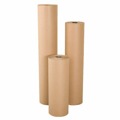 "24"" wide x 900' long 40 lb Rolled Brown Kraft Paper Shipping Void Crafting Fill"