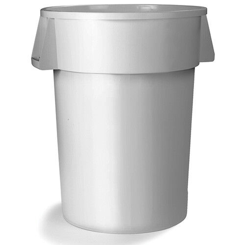 Round Waste Container - 20 Gallon Capacity, Gray