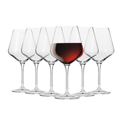 New Krosno Flair Shiraz Wine Glass 490ml Set 6 Gift Boxed