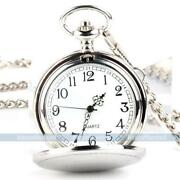 Silver Skeleton Pocket Watch