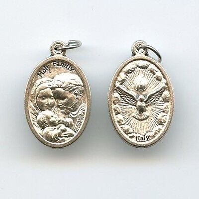 Medaille Heilige Familie Jesus Maria Josef Hl. Geist Neusilber 25mm MED 3009