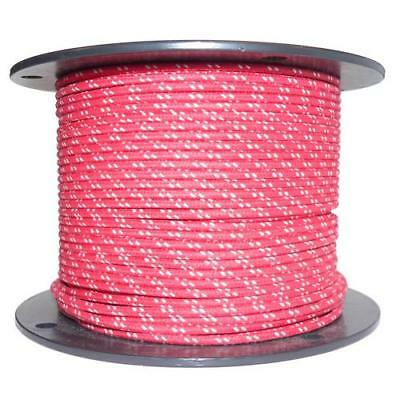 1M Algodón Trenzado Automotive Eléctrico Cable 16 Calibre Rojo y Blanco Mancha