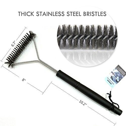 Grill Brush For Porcelain Coated Steel Grill Grates, Thick,