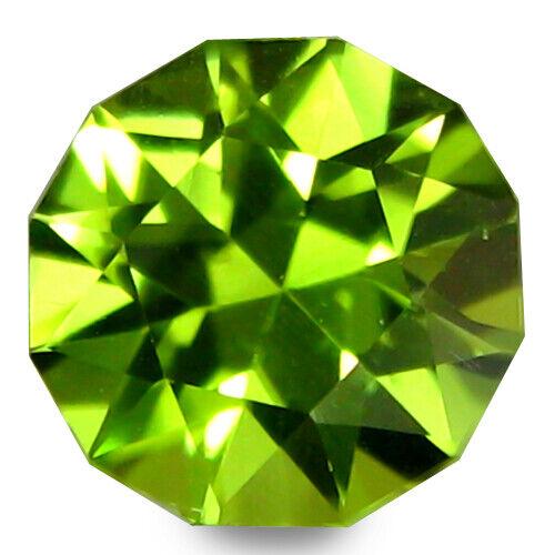 3.61Cts Stunning Natural Peridot 10mm Round Custom Cut Gemstone From Pakistan