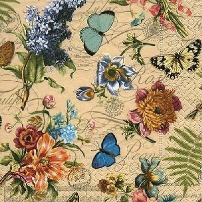 4 x Paper Napkins - Vintage Summer - Ideal for Decoupage / Napkin Art