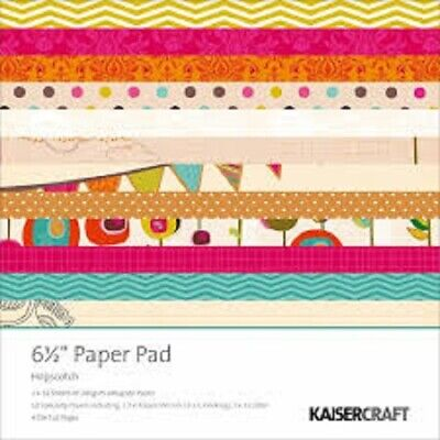"KAISERCRAFT HOPSCOTCH 6.5"" X 6.5"" PAPER PACK 36 SHEETS 4 DIE CUT PAGES - NEW"