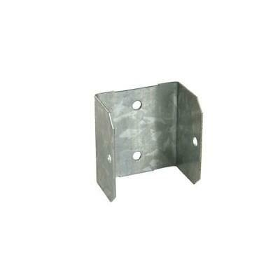 Fence Panel U-Clips 47mm Galvanised Brackets fencing post clips free p&p
