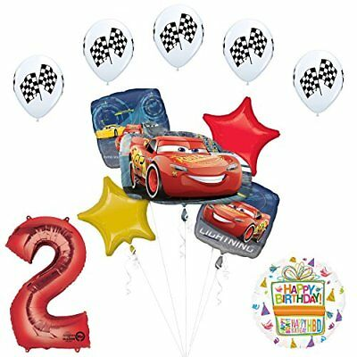 Disney Cars 3 Lighting McQueen 2nd Birthday Party Supplies  - Mcqueen Birthday Supplies