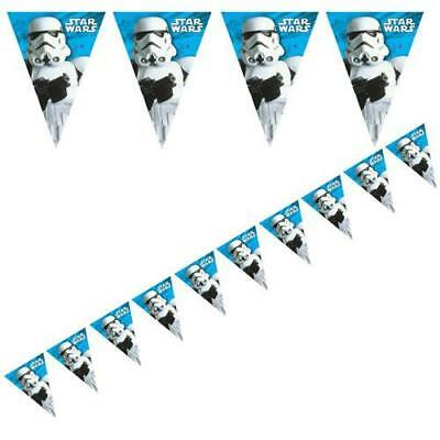 STAR WARS BUNTING - STORMTROOPER BIRTHDAY PARTY BANNER 2.3 metres FLAGS