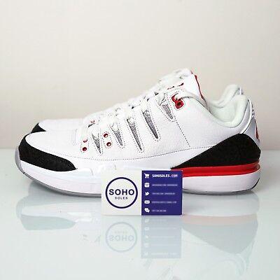 Roger Federer Nike Air Jordan Zoom Vapor AJ3 RF Fire Red 709998 106 Size 7.5-15