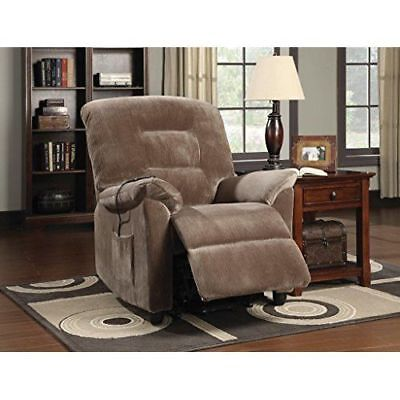 Power Lift Recliner Chair Wrapped w/ Velvet Fabric Comfortab
