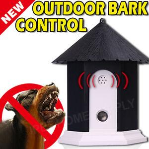Deluxe Outdoor Ultrasonic Dog Bark Control Birdhouse- Nuisance Deter Anti Bark
