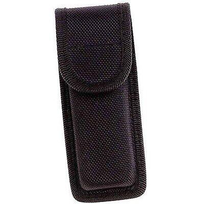 Black Molded Nylon Sheath Knife Belt Pocket Cree LED Flashlight Holster Case