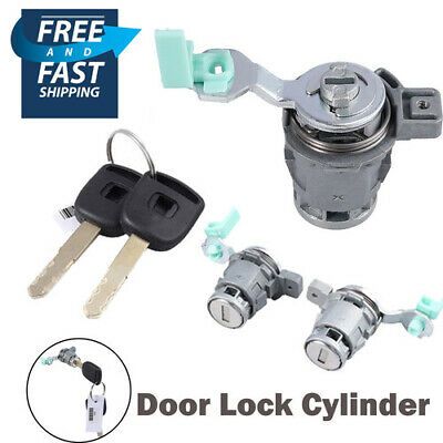 Door Lock Cylinder Front Set Fit for Honda Accord Civic Odyssey S2000 with Keys